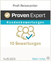Erfahrungen & Bewertungen zu Profi Reisecenter