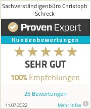 Erfahrungen & Bewertungen zu Sachverständigenbüro Christoph Schreck