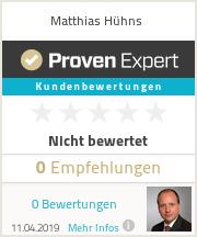 Erfahrungen & Bewertungen zu Matthias Hühns