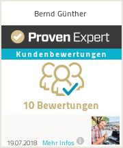 Erfahrungen & Bewertungen zu Bernd Günther