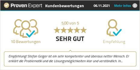 Kundenbewertungen & Erfahrungen zu Stefan Geiger. Mehr Infos anzeigen.