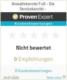 Erfahrungen & Bewertungen zu Anwaltskanzlei Fuß - Die Servicekanzlei -