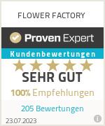 Erfahrungen & Bewertungen zu FLOWER FACTORY