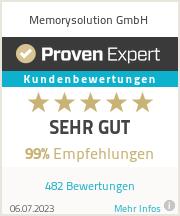 Erfahrungen & Bewertungen zu Memorysolution GmbH