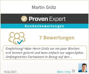 Erfahrungen & Bewertungen zu Martin Grütz