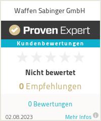 Erfahrungen & Bewertungen zu Waffen Sabinger GmbH