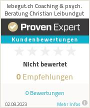 Erfahrungen & Bewertungen zu lebegut.ch Coaching & psych. Beratung Christian Leibundgut
