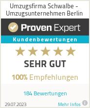 Erfahrungen & Bewertungen zu Umzugsfirma Schwalbe - Umzugsunternehmen Berlin