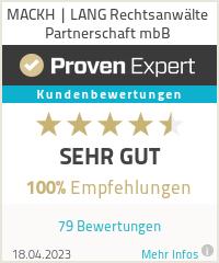 Erfahrungen & Bewertungen zu MACKH | LANG Rechtsanwälte Partnerschaft mbB
