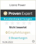 Erfahrungen & Bewertungen zu Lizenz Power