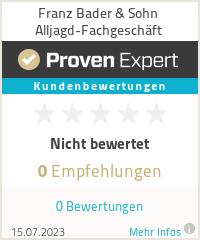 Erfahrungen & Bewertungen zu Franz Bader & Sohn Alljagd-Fachgeschäft