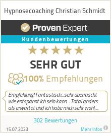 Erfahrungen & Bewertungen zu Hypnosecoaching Christian Schmidt