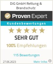 Erfahrungen & Bewertungen zu DiG GmbH Rettung & Brandschutz