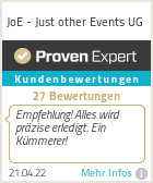 Erfahrungen & Bewertungen zu JoE - Just other Events UG