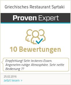 Erfahrungen & Bewertungen zu Griechisches Restaurant Syrtaki