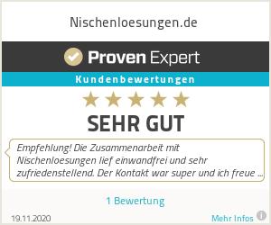 Erfahrungen & Bewertungen zu Nischenloesungen.de