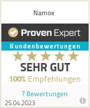 Erfahrungen & Bewertungen zu Namox