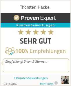 Erfahrungen & Bewertungen zu Thorsten Hacke