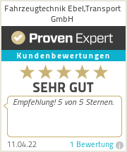 Erfahrungen & Bewertungen zu Fahrzeugtechnik Ebel,Transport GmbH