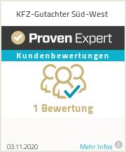 Erfahrungen & Bewertungen zu KFZ-Gutachter Süd-West