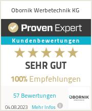 Erfahrungen & Bewertungen zu Obornik Werbetechnik KG