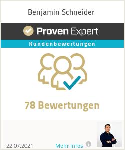 Erfahrungen & Bewertungen zu Benjamin Schneider