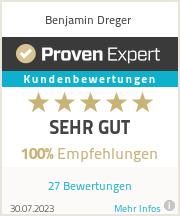 Erfahrungen & Bewertungen zu Benjamin Dreger