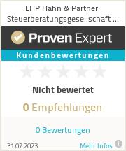 Erfahrungen & Bewertungen zu LHP Hahn & Partner Steuerberatungsgesellschaft mbB