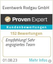 Erfahrungen & Bewertungen zu Eventwerk Rodgau GmbH