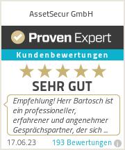 Erfahrungen & Bewertungen zu AssetSecur GmbH