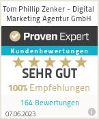 Bester Texter, Online Marketer, Mediengestalter - Auszeichnung Proven Expert