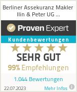 Erfahrungen & Bewertungen zu Berliner Assekuranz Makler Ilin & Peter UG (haftungsbeschränkt)
