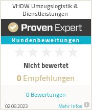 Erfahrungen & Bewertungen zu VHDW Umzugslogistik & Möbelspedition