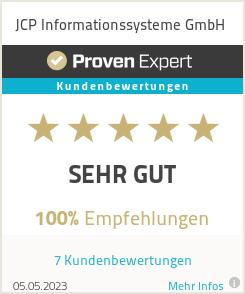 Erfahrungen & Bewertungen zu JCP Informationssysteme GmbH