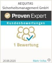 Erfahrungen & Bewertungen zu AEQUITAS Sicherheitsmanagement GmbH