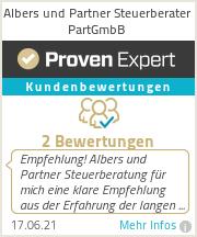 Erfahrungen & Bewertungen zu Albers und Partner Steuerberater PartGmbB