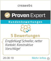 Erfahrungen & Bewertungen zu creawebs