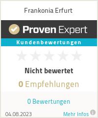 Erfahrungen & Bewertungen zu Frankonia Erfurt