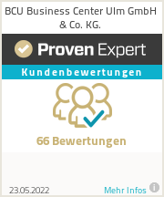 Erfahrungen & Bewertungen zu BCU Business Center Ulm GmbH & Co. KG.