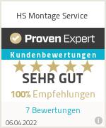 Erfahrungen & Bewertungen zu HS Montage Service
