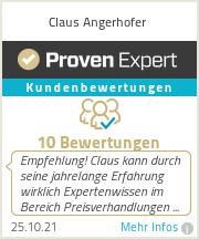 Erfahrungen & Bewertungen zu Claus Angerhofer