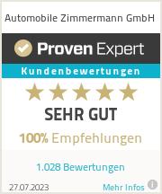 Erfahrungen & Bewertungen zu Automobile Zimmermann GmbH
