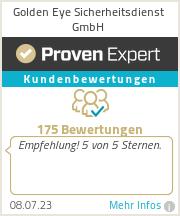 Erfahrungen & Bewertungen zu Golden Eye Sicherheitsdienst