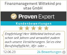 Erfahrungen & Bewertungen zu Finanzmanagement Wittekind pro vitae GmbH