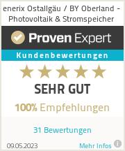 Erfahrungen & Bewertungen zu enerix Ostallgäu / BY Oberland - Photovoltaik & Stromspeicher