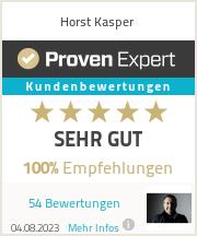 Erfahrungen & Bewertungen zu Horst Kasper
