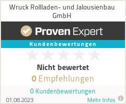 Erfahrungen & Bewertungen zu Wruck Rollladen- und Jalousienbau GmbH