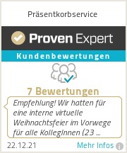 Erfahrungen & Bewertungen zu Präsentkorbservice