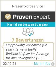 Erfahrungen & Bewertungen zu Präsentkorbservice