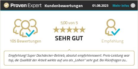Erfahrungen & Bewertungen zu Von Sturm Dachdeckermeisterbetrieb anzeigen